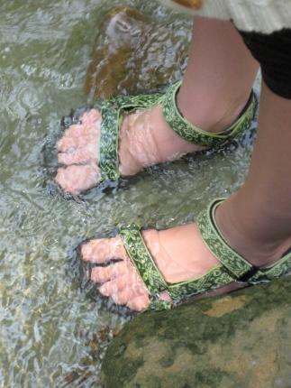 Sandals in Stream