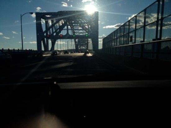 Driving across the Arrigoni Bridge in Middletown, CT
