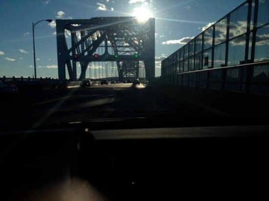 Driving across the Arrigoni Bridge in Middletown, CT