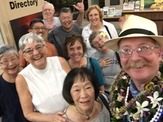 Church of the Holy Cross members welcome Eric Anderson to Hilo.