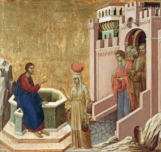 Duccio_di_Buoninsegna_-_Christ_and_the_Samaritan_Woman_-_Google_Art_Project