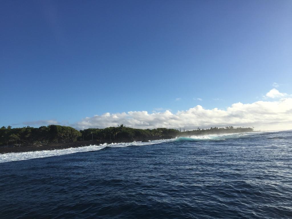 Ocean and shoreline.